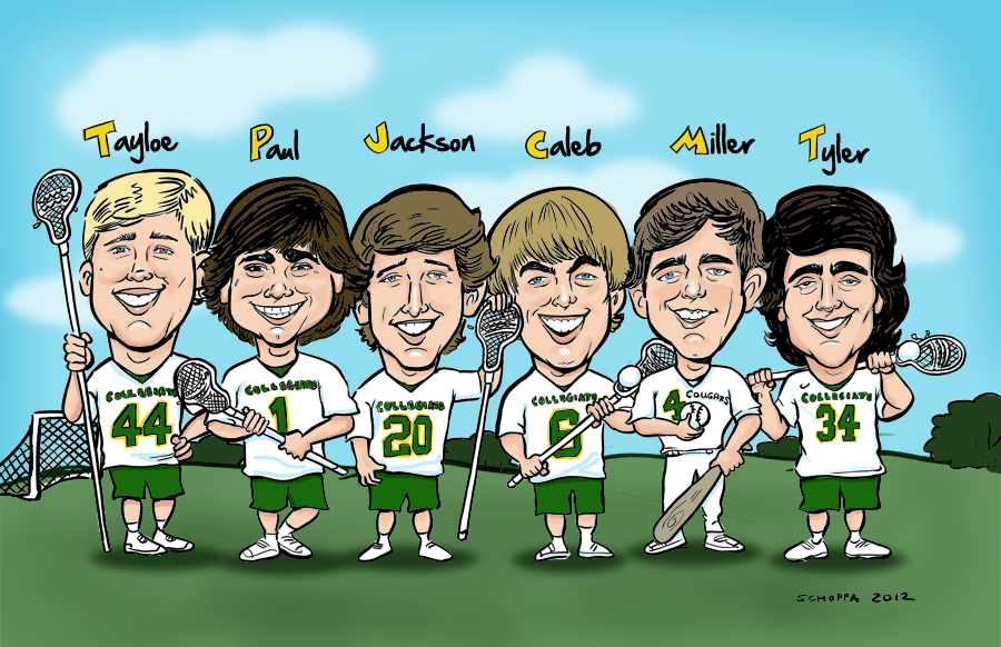 Group portrait of lacrosse team!