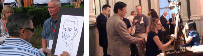 SketchfacesDC draws live caricatures at events