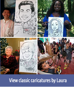 View classic caricatures by Laura