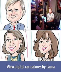 View sample digital caricatures by Laura
