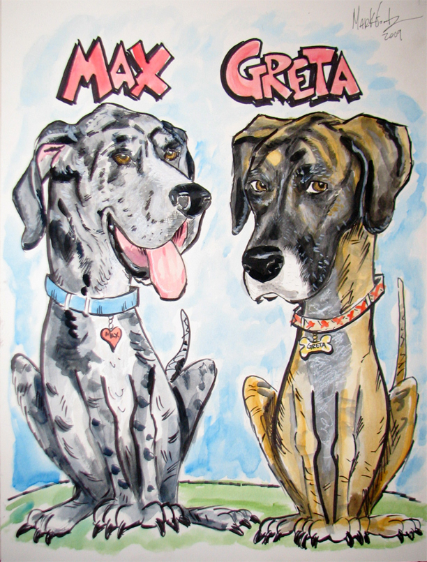 Dog caricature!