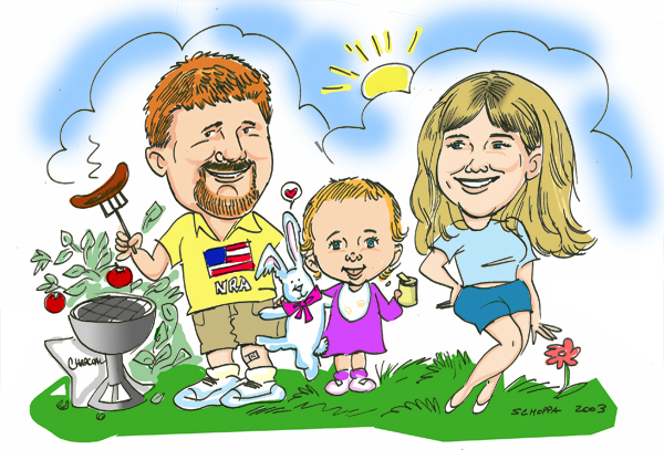 Family gift caricature!