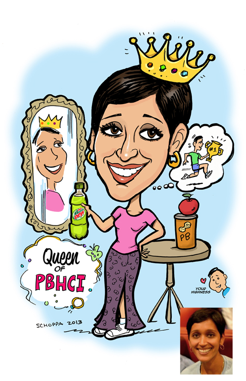 "A runner who loves peanut butter and is ""queen"" of her department!"