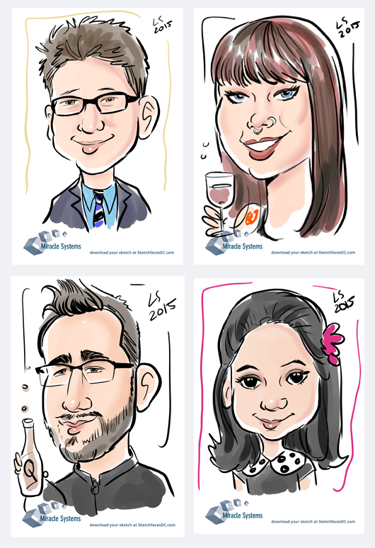 Digital caricatures download page screenshot!