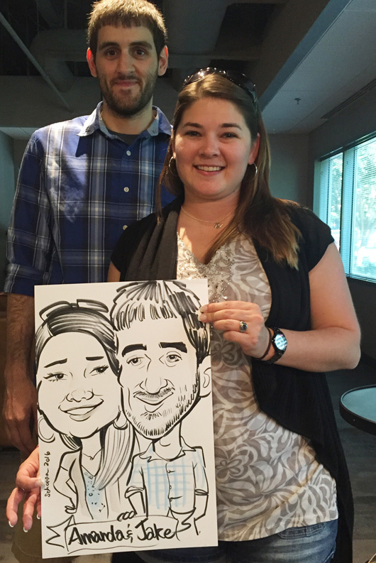 Live Caricatures for Employee Appreciation Day