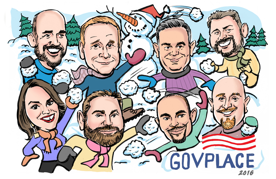 Holiday card showing executive team!