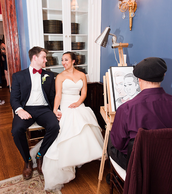 Leesburg Virginia wedding caricatures