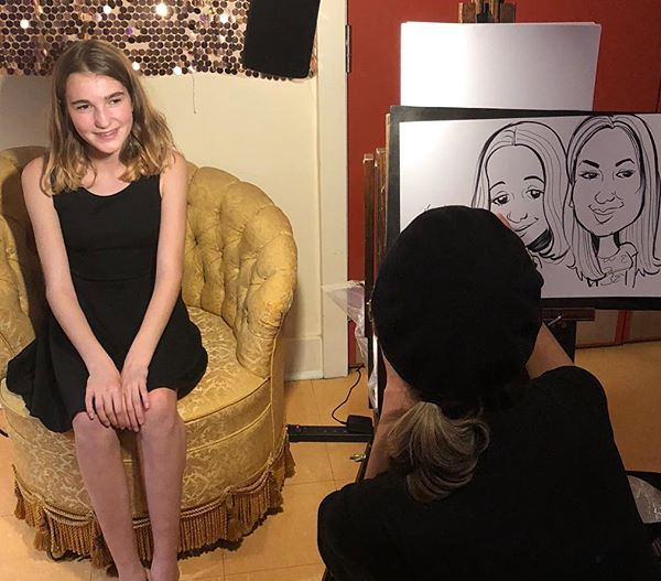 Caricaturist at a Bat Mitzvah