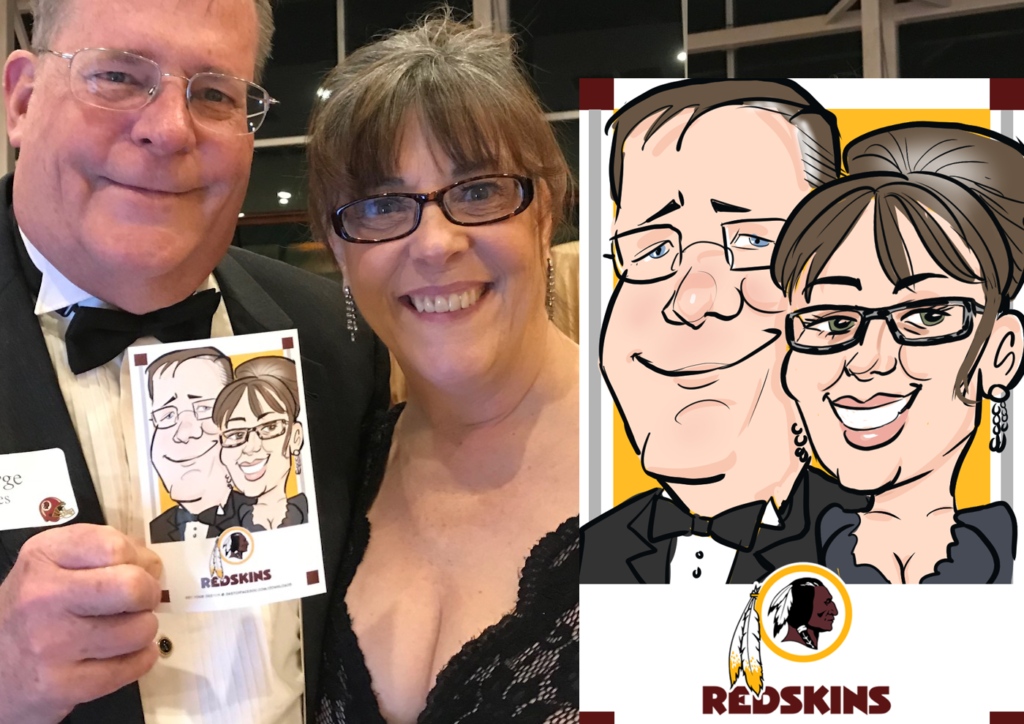 Digital caricatures for Washington Redskins fans