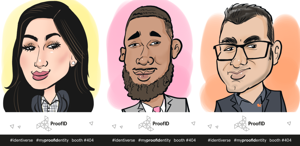 Digital caricatures from a conference