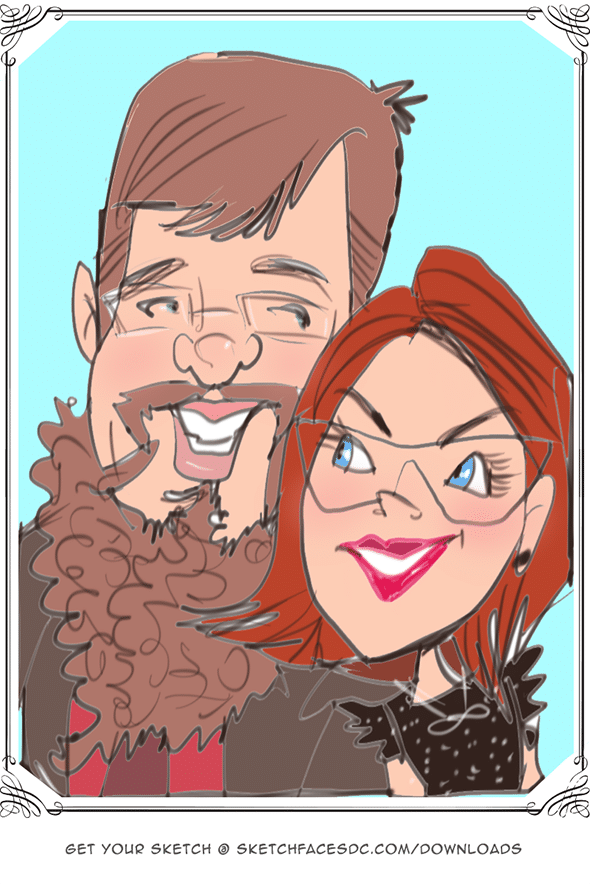 Live digital caricatures Tysons Corner Virginia