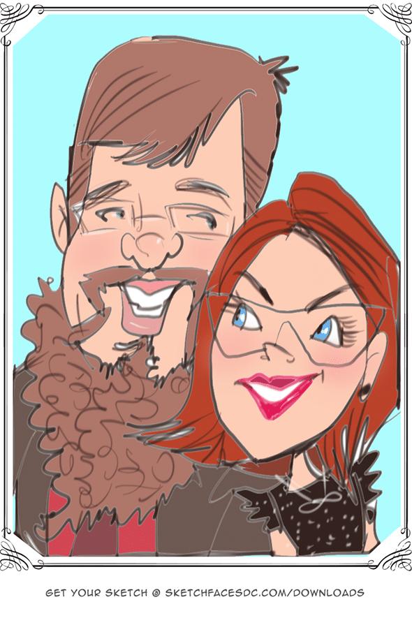 Live digital caricatures Tysons Corner Virginia