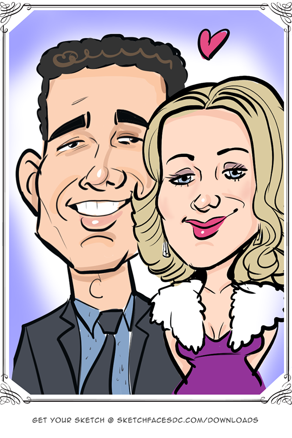 Couple as a digital caricature Laura Schoppa