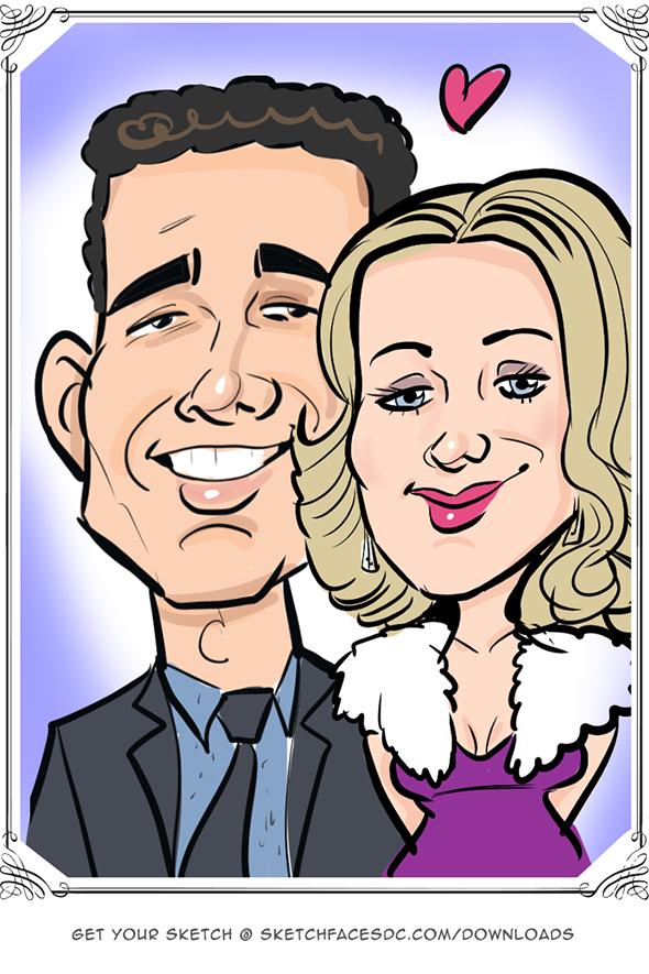 Couple as a digital caricature Laura Schoppa