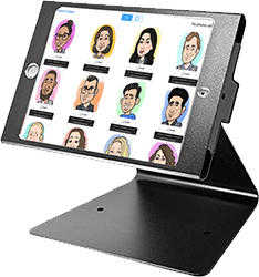 Email your caricature with our digital caricature kiosk