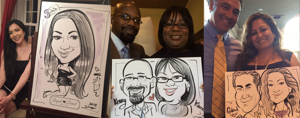 Caricatures at weddings!